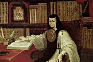 Juana Ines at her study