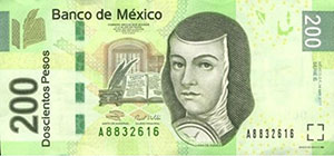 Juana Ines on banknote