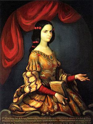 portrait of young Juana Ines